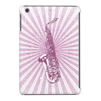 Girly Pink Grunge Saxophone iPad Mini Retina Cover