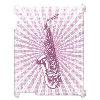 Girly Pink Grunge Saxophone iPad Covers
