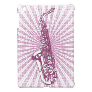 Girly Pink Grunge Saxophone iPad Mini Case