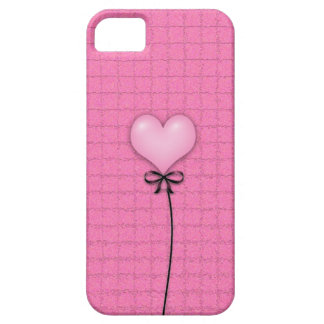 Girly Pink Heart Balloon iPhone SE/5/5s Case