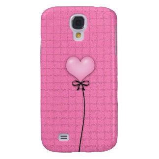 Girly Pink Heart Balloon Samsung Galaxy S4 Cover