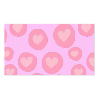 Girly pink hearts hand painted love cute pattern Double-Sided standard business cards (Pack of 100)