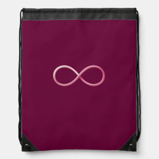 Girly Pink Infinity Symbol Backpacks