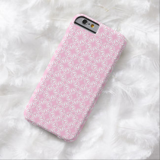 Girly Pink Lace Floral Pattern White iPhone 6 Case