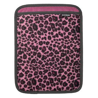 Girly Pink Leopard Cheetah Print iPad Sleeve