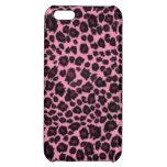 Girly Pink Leopard Cheetah Print iPhone 5C Case