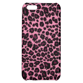 Girly Pink Leopard Cheetah Print iPhone 5C Covers