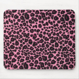 Girly Pink Leopard Cheetah Print Mouse Pad