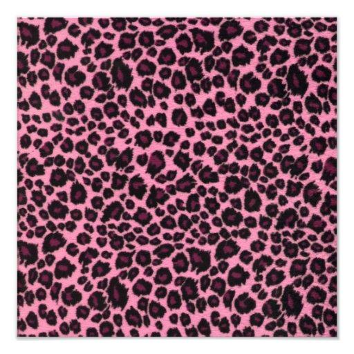 Girly Pink Leopard Cheetah Print Photo Print