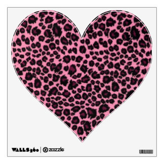Girly Pink Leopard Cheetah Print Wall Decal Part 46