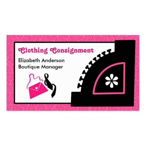 Consignment Shop Business Cards 166 Consignment Shop