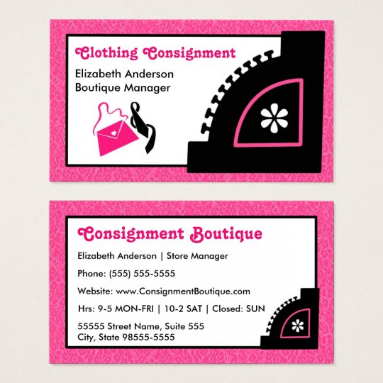 Girly Pink Leopard Clothing Consignment Boutique Business ...