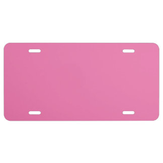 """""""Girly Pink"""" License Plate"""