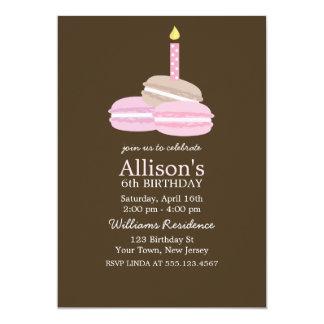 Girly Pink Macarons Birthday Card