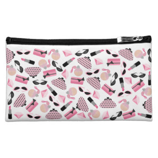 Girly Pink Makeup & Purses Cosmetics Bag