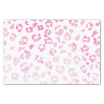 Girly pink modern watercolor animal print tissue paper
