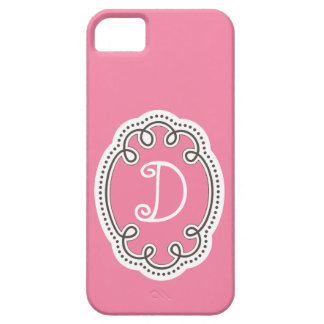 Girly Pink Monogrammed Case iPhone 5 Cover
