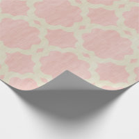 Girly pink moroccan wrapping paper