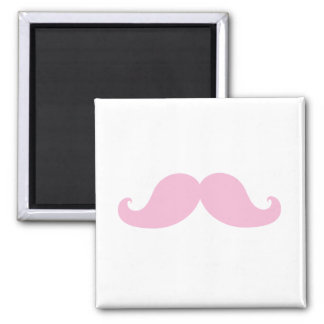 Girly Pink Mustache Refrigerator Magnets