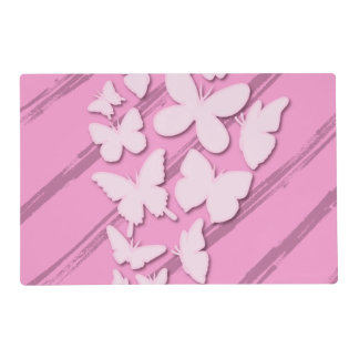 Girly Pink Paper Butterfly Placemat