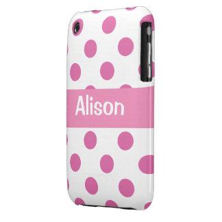 Girly pink Polka Dot Blackberry cases
