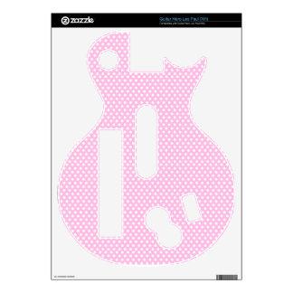 Girly Pink Polka Dot Guitar Hero Les Paul (Wii) Decals For Guitar Hero