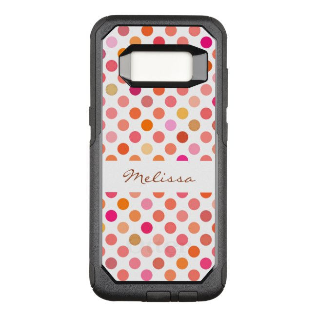 Girly Pink Polka Dot OtterBox Galaxy S8 Case
