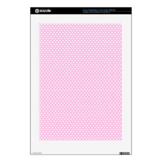 Girly Pink Polka Dot PS3 Skin