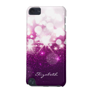 Girly Pink Purple Glitter and Sparkles iPod Touch (5th Generation) Case