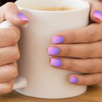 Girly Pink Purple Ombre Gradient Minx Nail Art