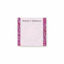 Girly Pink & Purple Swirly Pattern   Custom Name Post-it Notes