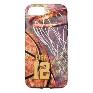 girly pink purple women's basketball iPhone 7 case