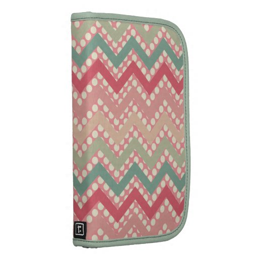 Girly PINK Red Green Chevron And Polka Dots Planners