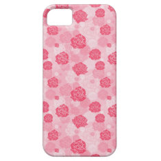 Girly Pink Rose Iphone 5 Case