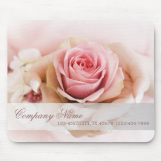 girly pink rose wedding florist business mouse pad