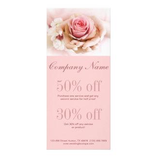 girly pink rose wedding florist business rack card