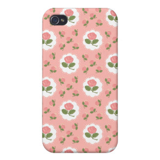 Girly Pink Roses Cases For iPhone 4