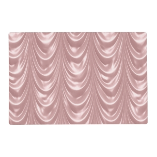 Girly Pink Ruched Satin Scalloped Pattern Placemat at Zazzle
