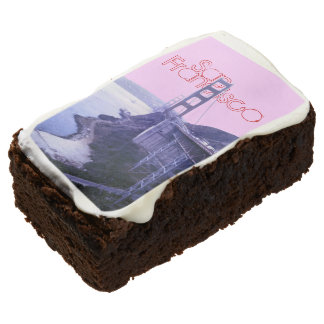 Girly Pink San Francisco Golden Gate Bridge Brownie