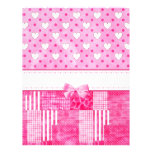 Girly Pink Scrapbook Paper Custom Letterhead