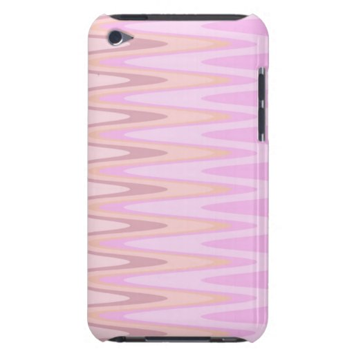 Girly Pink Squiggles Zigzag Pattern Barely There iPod Covers
