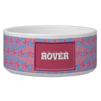 Girly pink starfish bowl