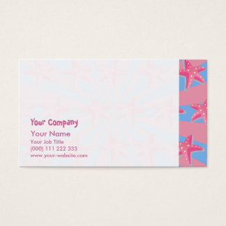 Girly pink starfish business card