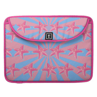 Girly pink starfish sleeve for MacBook pro