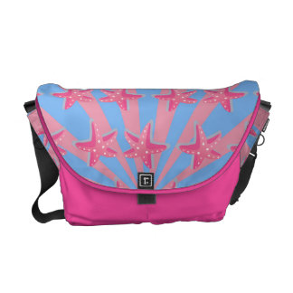 Girly pink starfish courier bags