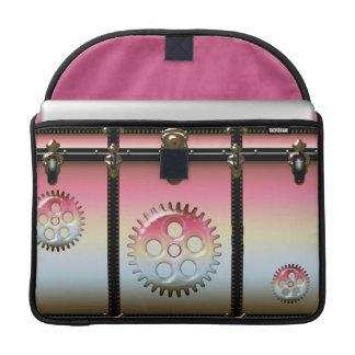 Girly Pink SteamPunk Print Rickshaw Macbook MacBook Pro Sleeves