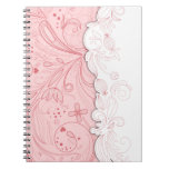 Girly Pink Swirls Notebook