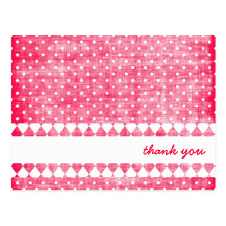 Girly Pink Textured Thank You Cards