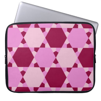 Girly Pink Triangle Optical Illusion Pattern Computer Sleeve