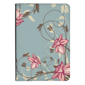 Girly Pink Tulips Kindle 4 Cover